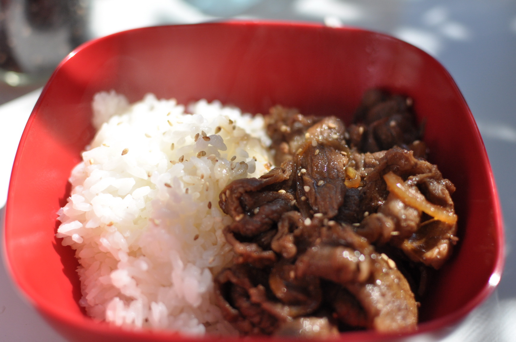 Gyudon (Japanese beef and rice bowl) - Little By Little blog